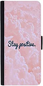 Snoogg Stay Positivedesigner Protective Flip Case Cover For Samsung Galaxy No...