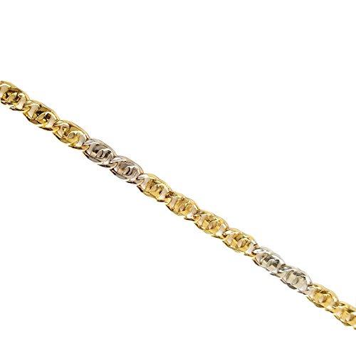 bracelet homme or jaune et blanc 750 bijoux or massif 18. Black Bedroom Furniture Sets. Home Design Ideas