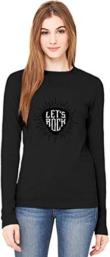 Let's rock T-Shirt da Donna a Maniche Lunghe Long-Sleeve T-shirt For Women| 100% Premium Cotton| DTG Printing| Large
