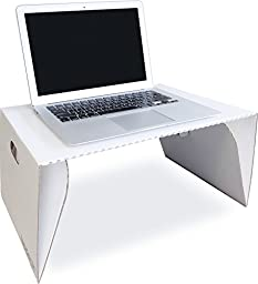 Lapdeck Portable Lap Desk, Folds flat, 100% Recyclable, 12 oz, White