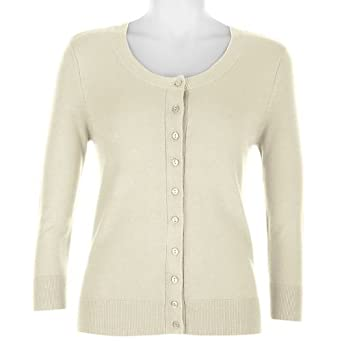 Misses Nue Options 3/4 Sleeve Cardigan Sweater