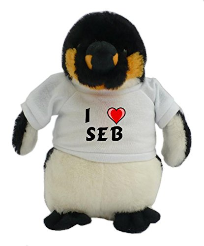 personalised-penguin-plush-toy-with-i-love-seb-t-shirt-first-name-surname-nickname