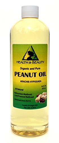 Peanut Oil Refined Organic Carrier Cold Pressed 100% Pure 64 Oz front-978254