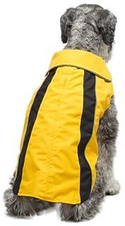 Legitimutt Storm Tech Dog Raincoat, Size 16, Yellow/Black