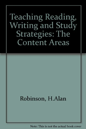 Teaching Reading, Writing and Study Strategies: The Content Areas