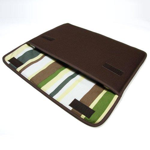 suono ハンドメイド MacBook Air ケース 11インチ用:FILO(ココア・カーキストライプ)