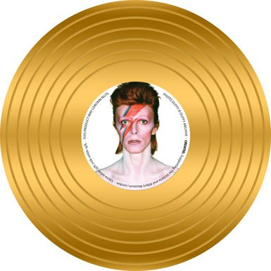 David Bowie Gold Record Chocolate Coin||AFTTO ||EVAEX