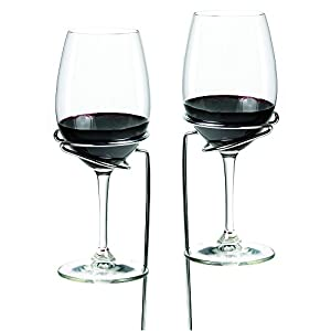 True  by True Fabrications Unique Wine Gift Picnic Stix for Easy Wine Drinking Outside - Anchor your Stick in the Ground to Hold Your Wine Glass - Set of 2