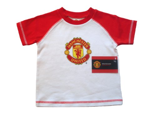 Manchester United Football Club Unisex Baby Raglan Short Sleeve T-Shirt Red/White 12 - 18 Months