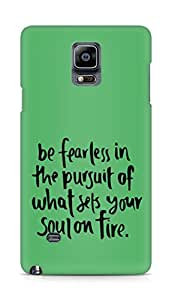 AMEZ be fearless i the pursuit Back Cover For Samsung Galaxy Note 4
