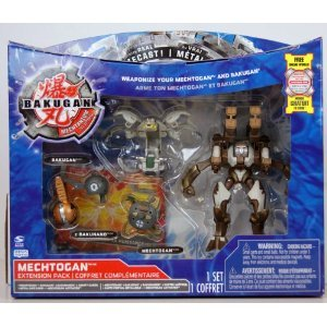 Bakugan - Mechtanium Surge - Mechtogan Extension Pack - DEEZALL BRONZE with Real Die-Cast! - incl. 1 Mechtogan, 1 Bakugan, 2 Bakunano and 2 Ability Cards - MIB