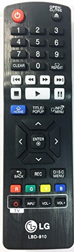 XtraSaver LBD-910 LG Blu Ray Replacement Remote for AKB73735801 BP330 BP530 BPM53 BP135 BP300 -- SOLD BY XTRASAVER ONLY (Lg Blu Ray Remote compare prices)