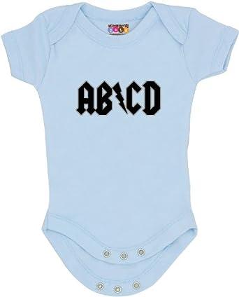 """""""AB/CD"""" Onesie/Bodysuit (3 - 6 months, Blue)"""