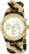 Michael Kors Triple-eye Gold Dial Womens Quartz Watch  MK4270