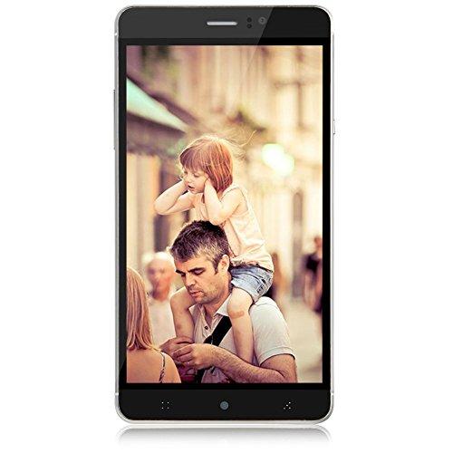 Padgene Handy 3G Smartphone Ohne Vertrag (6 Zoll (15,2cm) mit Android 4.4, Vierkernprozessor Dual SIM, IPS Touchscreen, Bluetooth) Mobiltelefon mit Doppel Kameras (Schwarz)