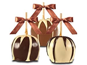 Gourmet Caramel Apples - Belgian Chocolate Dunked, Set of 2 White Chocolate Dunked