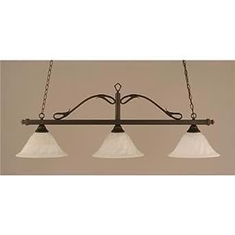3 light wrought iron rope kitchen island pendant finish for Kitchen spotlights amazon