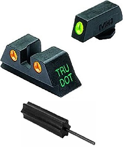 Meprolight The Mako Group Ml10224 O Glock® Tru-Dot® Night Sight Set Green/Orange - 9Mm, .357 Sig, .40 S&W & .45 Gap + Ultimate Arms Gear Pro Disassembly 3/32 Pin Punch Armorers Gunsmith Tool
