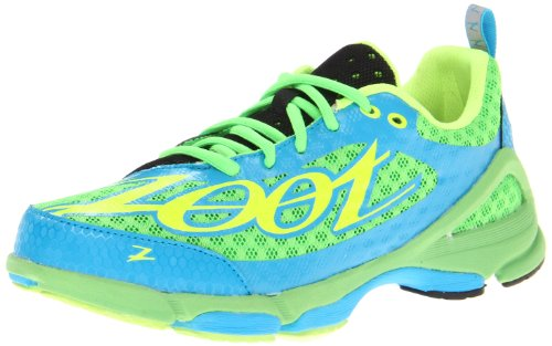 Zoot Women's W TT Trainer 2.0 Running Shoe,Green Flash/Atomic Blue/Safety,6 M US