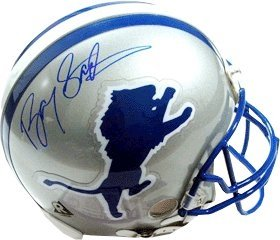 Barry Sanders Autographed Hand Signed Detroit Lions Full Size Replica TB Helmet by Hall of Fame Memorabilia