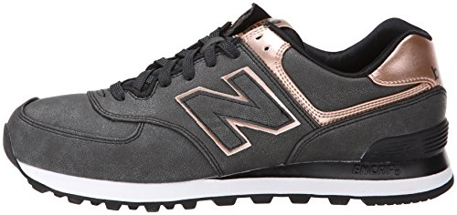 new balance precious metals 574 charcoal rose gold
