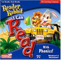 New Learning Company Reader Rabbit I Can Read With Phonics Jc USE With Windows & Macintosh Classic