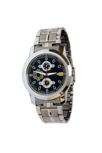 ADINE \/AD-2221silver\/black Watch for MEN