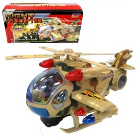 Bump & Go Fight Helicopter with Lights and Sound
