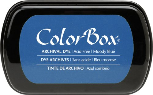 ColorBox Archival Dye Ink Full Size Inkpad, Moody Blue (Dye Based Stamp Pad compare prices)