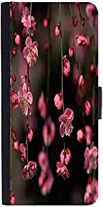 Snoogg Pink Simple Flowersdesigner Protective Flip Case Cover For Samsung Gal...