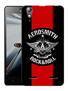 """Humor Gang Aerosmith Rock And Roll Printed Designer Mobile Back Cover For """"Lenovo A6000 - A6000 PLUS"""" (3D, Matte, Premium Quality Snap On Case)"""