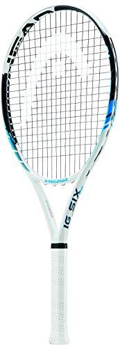 Head IG Six - Racchetta da tennis, 3 grip, colore: bianco/blu