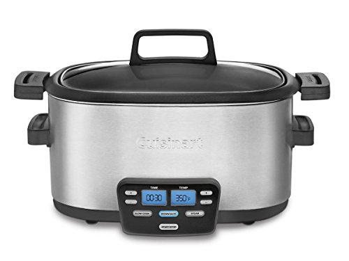 Cuisinart MSC-600 3-In-1 Cook Central 6-Quart Multi-Cooker: Slow Cooker, Brown/Saute, Steamer (Slow Cookers And Crockpots compare prices)