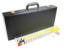 4 Pushers and Brand New Complete American Mahjong Set in Black Case, 166 Tiles(Mah Jong mah Jongg Mahjongg)
