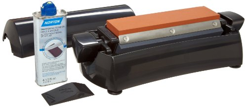 "Norton IM200 -8"" Three Stone Sharpening System - Fine India, Medium Crystolon, and Coarse Crystolon stones"