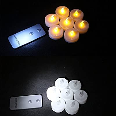 Backto20s Flameless LED Tealight Candles with Wireless Remote Control 8-pack