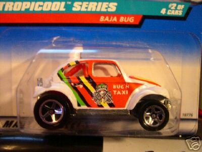 Hot Wheels 1998 Tropicool Series White Baja Bug 1:64 Scale Collectible Die Cast Car Model 2/4 - 1