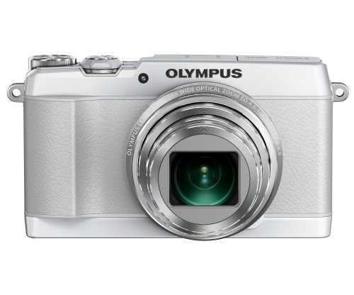 Olympus SH-1 Digital Compact Camera – White (16MP, 24x Optical Zoom) 3 inch Touchscreen LCD