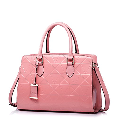 Fashion Latest Style Nucelle Women'S Patent Leather Quilted Embossing Handbags Shoulder Bag