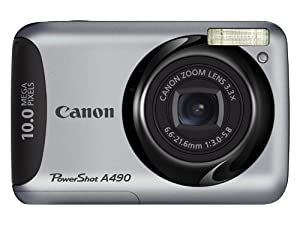 Canon PowerShot A490 10.0 MP Digital Camera with 3.3x Optical Zoom and 2.5-Inch LCD
