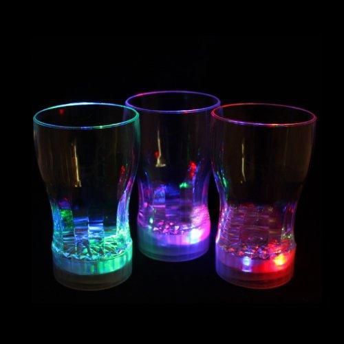 Led-Cube® Light Up Cola Glasses Flashing Blinking Led Cups Barware Bell Soda Glass Pop (9)