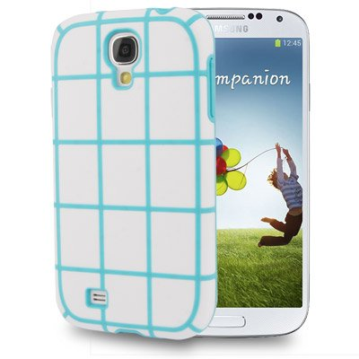 Fone-Stuff Grid Design Protective Smooth Silicone Tough Tpu Cover Case For Samsung Galaxy S4 (Baby Blue) front-68667