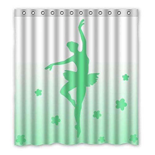 """167 centimetri x183 cm (66 """"x72"""") Bagno Doccia Tenda, universale verde sfondo ragazza Ballando cortina personalizzato doccia, Art Déco di casa, Doccia"""