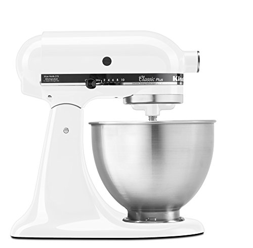 KitchenAid KSM75WH Classic Plus Series 4.5-Quart Tilt-Head Stand Mixer, White (Kitchenaid Mixer Free Shipping compare prices)