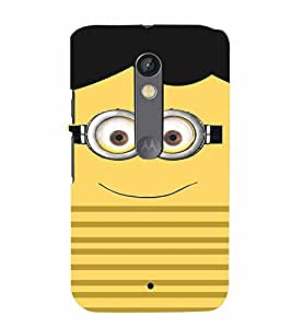 PrintVisa Cute Cartoon Me 3D Hard Polycarbonate Designer Back Case Cover for Motorola Moto X Play