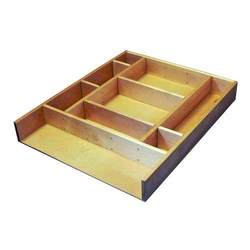 Rev-A-Shelf LD-4CT15-1 LD-4CT Series 2.5 Inch Deep Wood Drawer Organizer Kit 15, Natural Wood