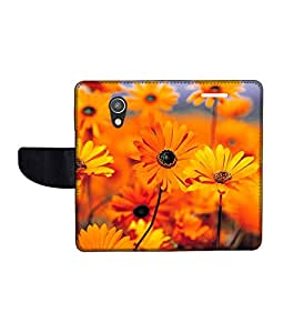 KolorEdge Printed Flip Cover For Motorola Moto G (2nd Gen) Multicolor - (50KeMlogo09145MotoG2)