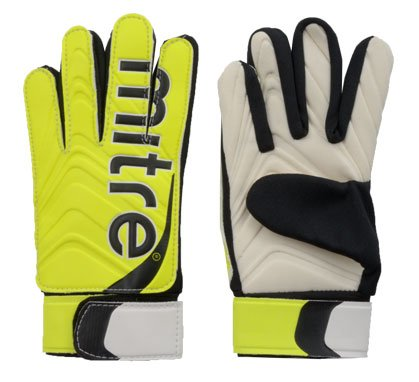 Mitre Doma Junior Goalkeeping Glove - Yellow, Size 6