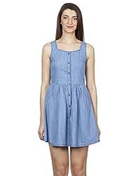 IRALZO Denim Tunic Dress