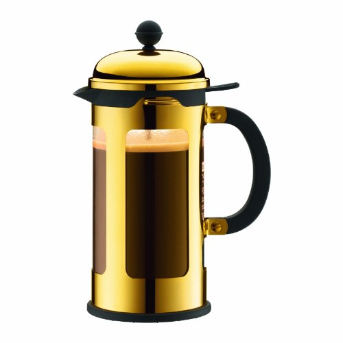Bodum Chambord 8-Cup French Press 1.0-Litre Coffee Maker, 34-Ounce, (Gold Chrome)